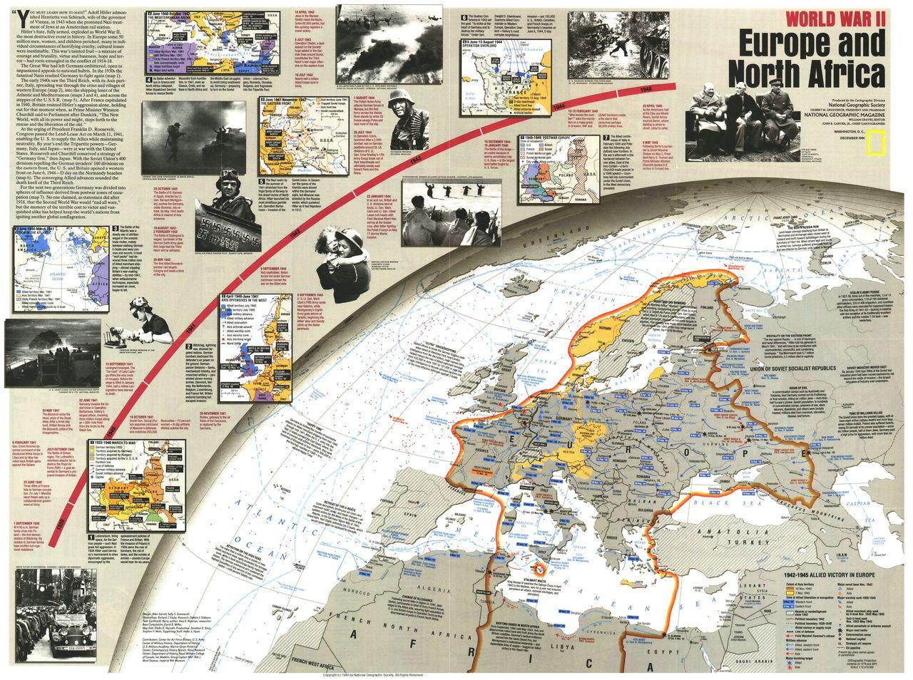 World War II- Europe and North Africa   Maps   Africa, North africa, WW2