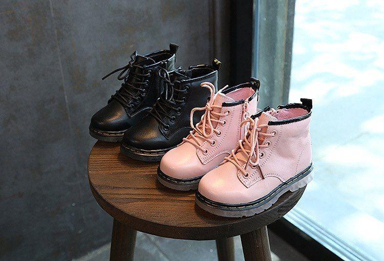 432c15d5e (Ru-61) 2018 Niñas goma Botas invierno Zapatos para Niñas Cuero auténtico  Zapatos