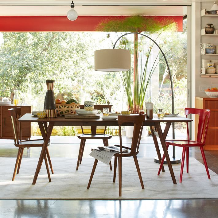 Mid Century Expandable Dining Table Expandable Dining Table Mid