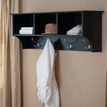 Prepac Sonoma Black Entryway Cubbie Shelf And Coat Rack Possible Cool Sonoma Coat Rack