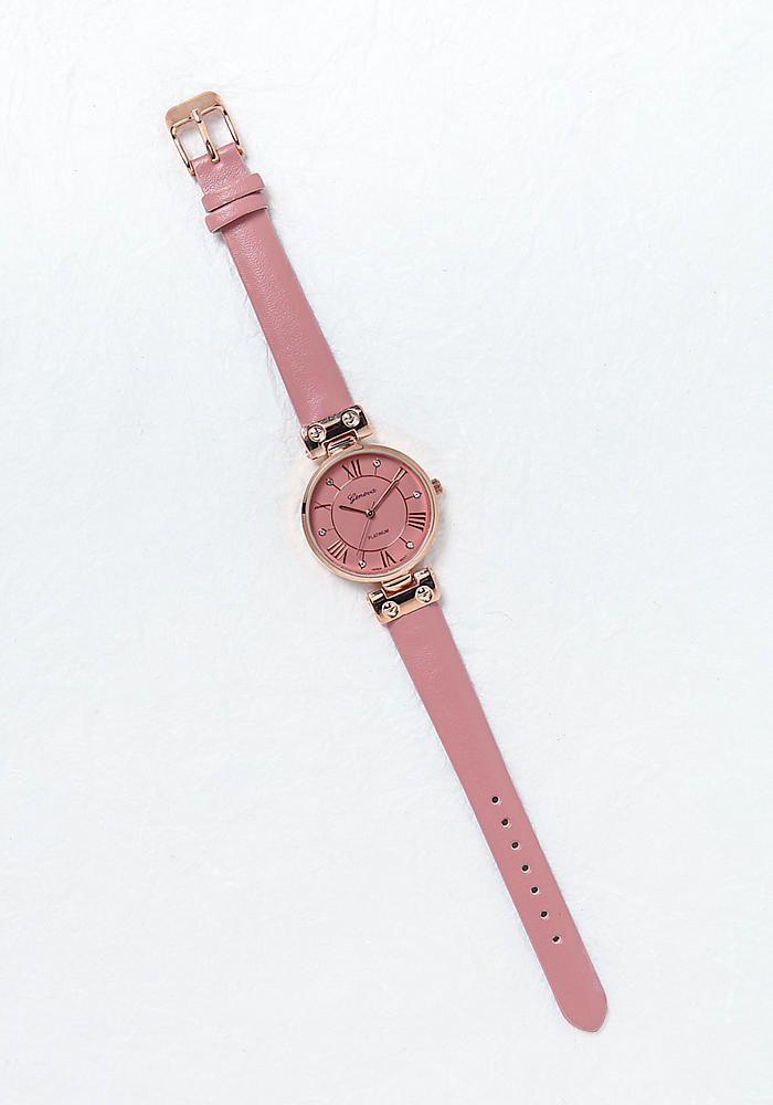 PEDIDOS SOLO POR #ENCARGO Código: LC-12 Pink Roman Numeral Rhinestone Watch Color: Pink  Precio: ₡32.500 ($59,96)  Whatsapp ☎8963-3317, escribir al inbox o maya.boutique@hotmail.com  Envíos a todo el país. #MayaBoutiqueCR ❤