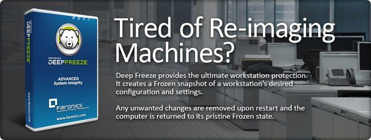 Deep Freeze Instant Restore Software For Pc Mac Servers System Restore Deep Freeze Enterprise