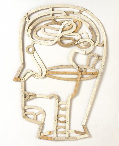Martin Jarrie: Tête bois Exposition « La Fabrique Anatomique »