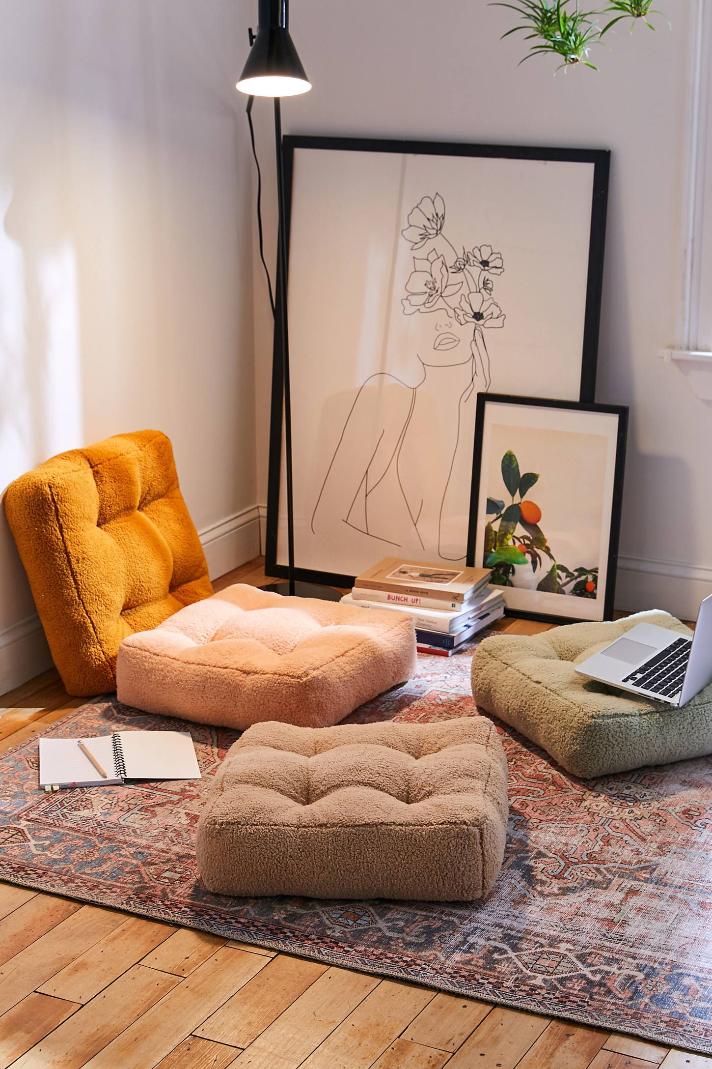 Sherpa Floor Pillow Floor Pillows Floor Cushions Room Decor