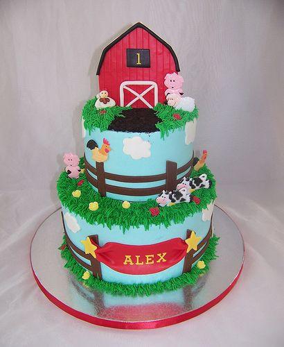 Prime Farm 1St Birthday With Images Farm Birthday Cakes Barnyard Funny Birthday Cards Online Inifodamsfinfo