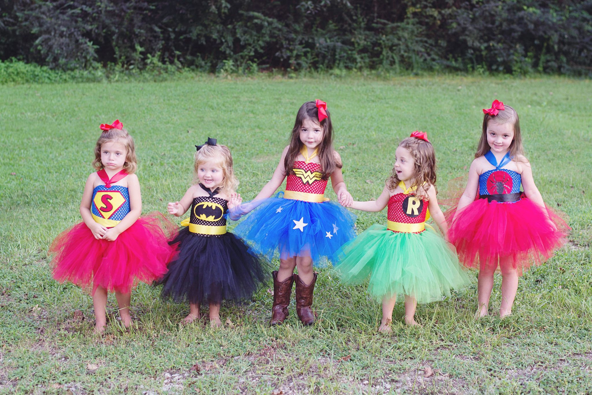 Super Hero Batman Robin Spiderman Superman Inspired Tutu -9023