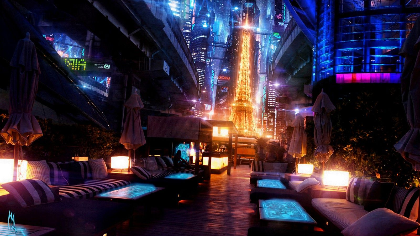 Japan, Colorful, Digital Art, Cyberpunk Wallpapers HD