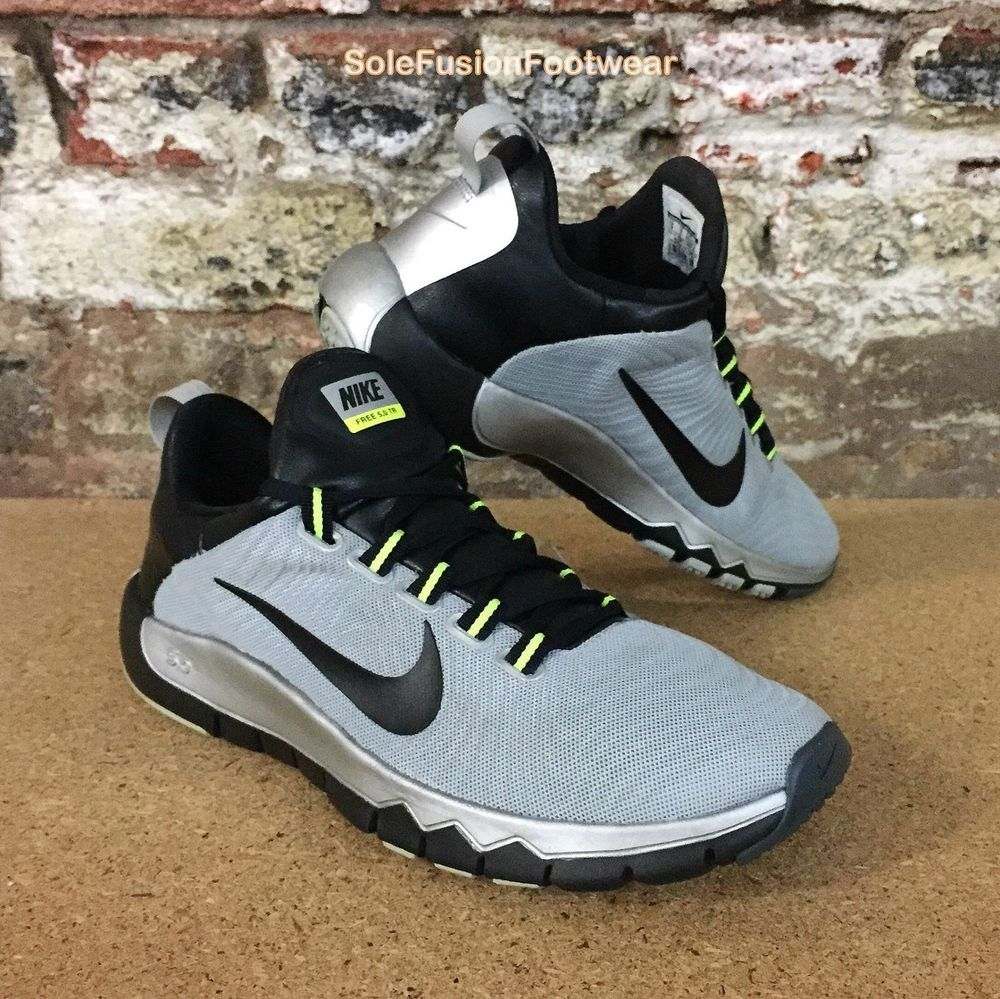 Nike Mens FREE 5.0 Running Trainers Grey/Black size UK 8