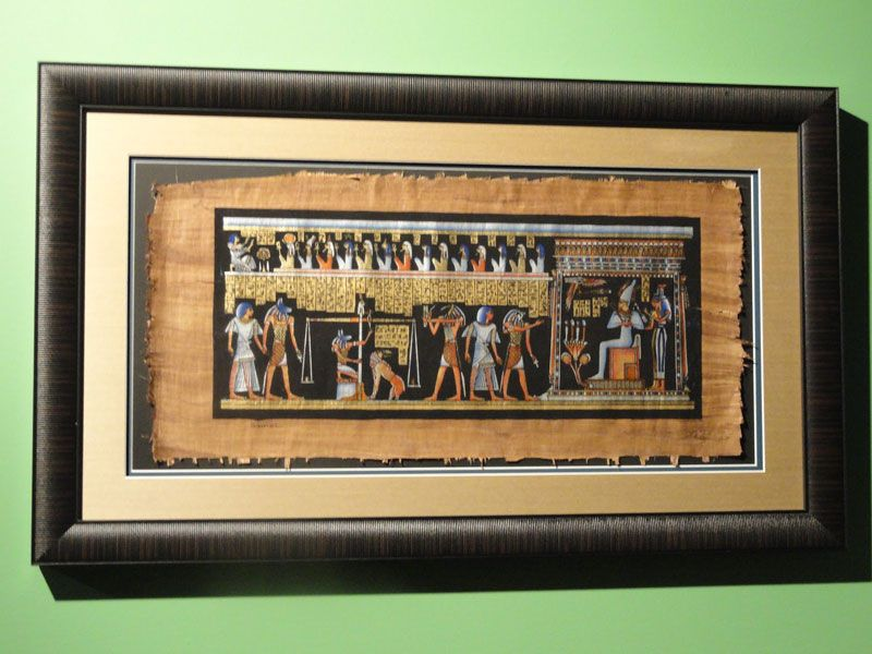 How to frame papyrus art | Wall decor | Pinterest | Crafts