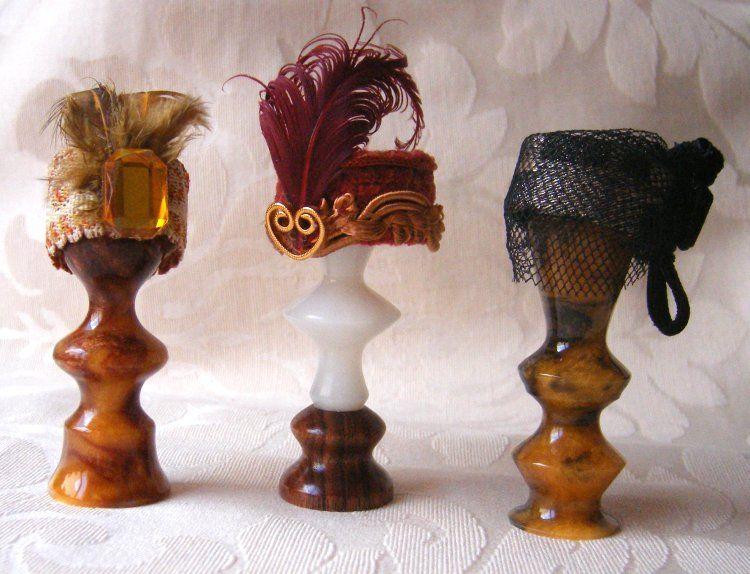 Learn to make a 1:12 scale ladies 1920's hat by Janine Crocker