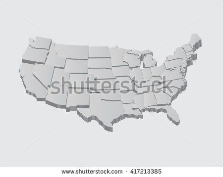 united states 3d vector map maps usa states counties cities