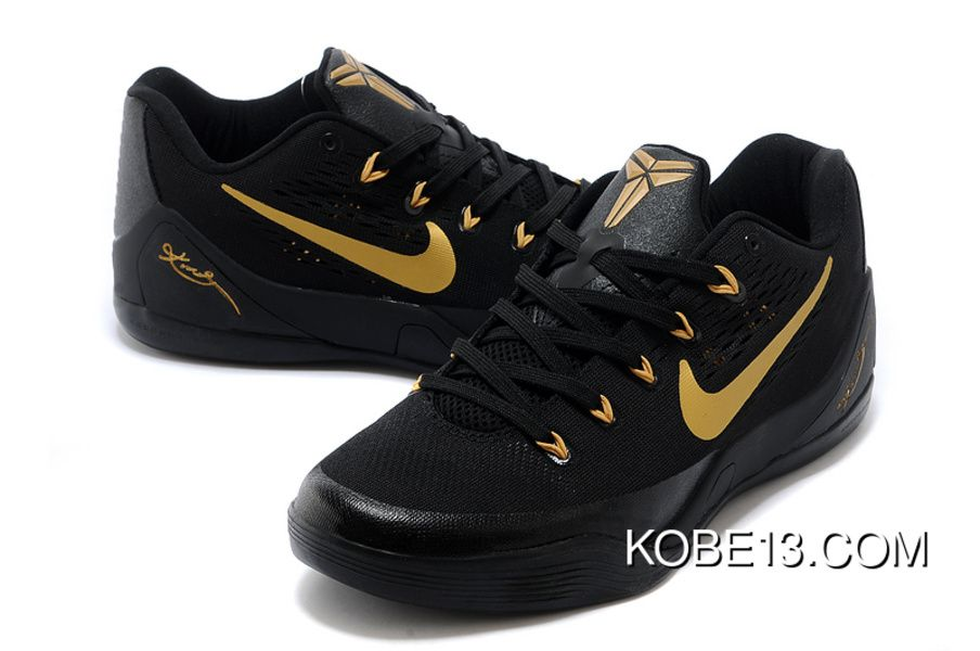 the best attitude 212e4 8598b Nike Kobe 9 Low EM Black Gold Copuon