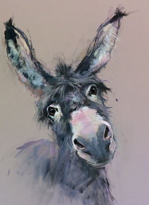 Nicky Litchfield Animaux D Aquarelle Peintures Animalieres Ane
