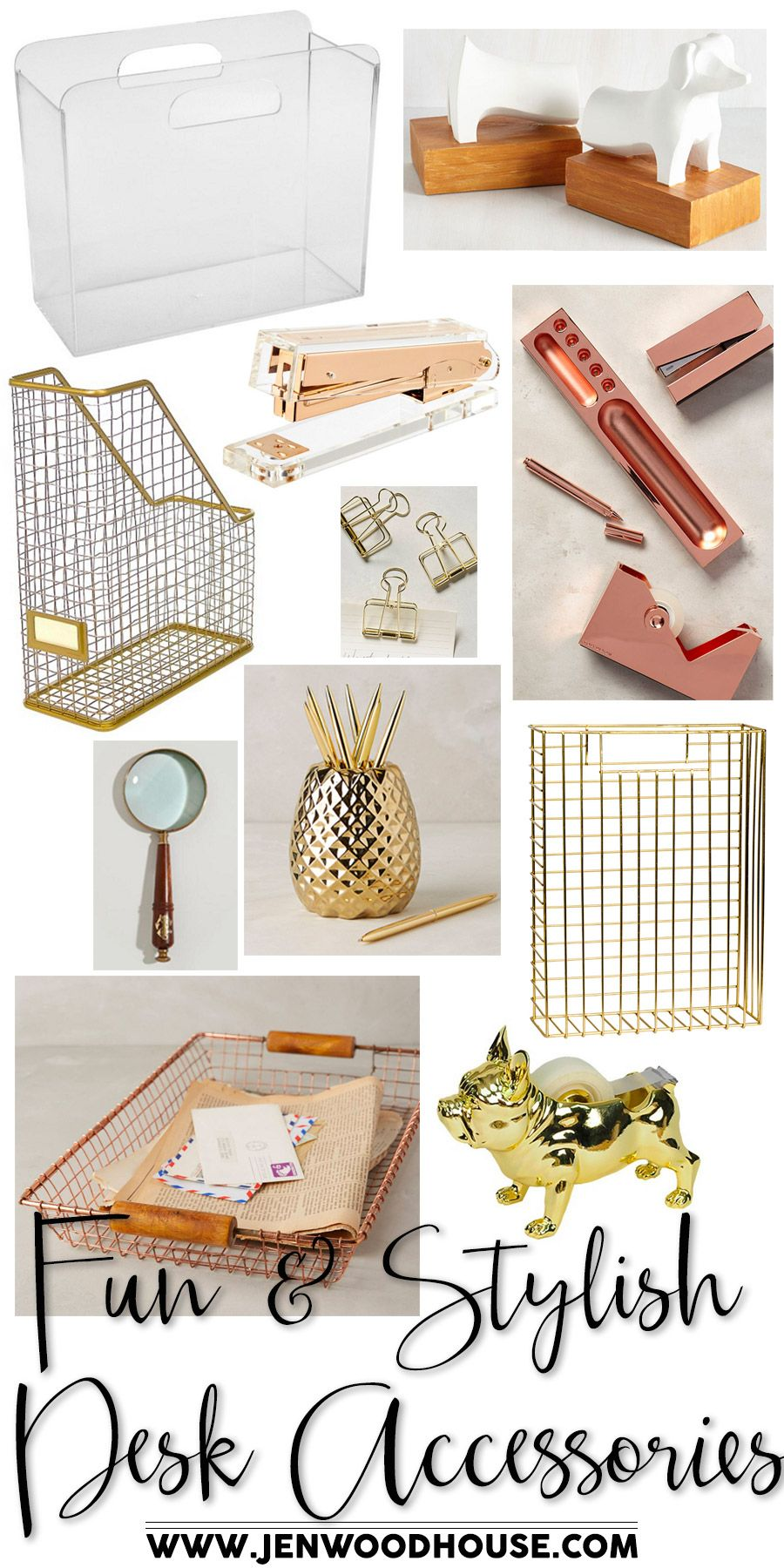 Fun And Stylish Desk Accessories The House Of Wood Stylish Desk Accessories Stylish Desk Desk Accessories