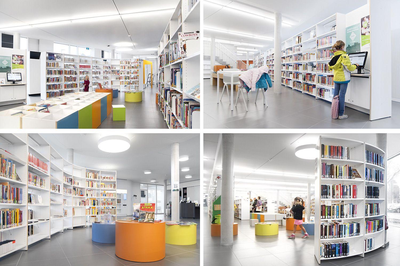 Bibliotheekinrichting Ternat met Ratio bibliotheekrekken
