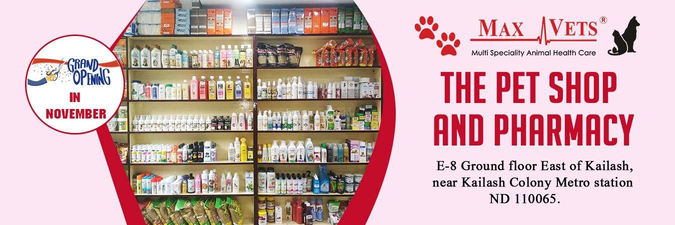 The Pet Shop & Pharmacy opening soon in East of Kailash