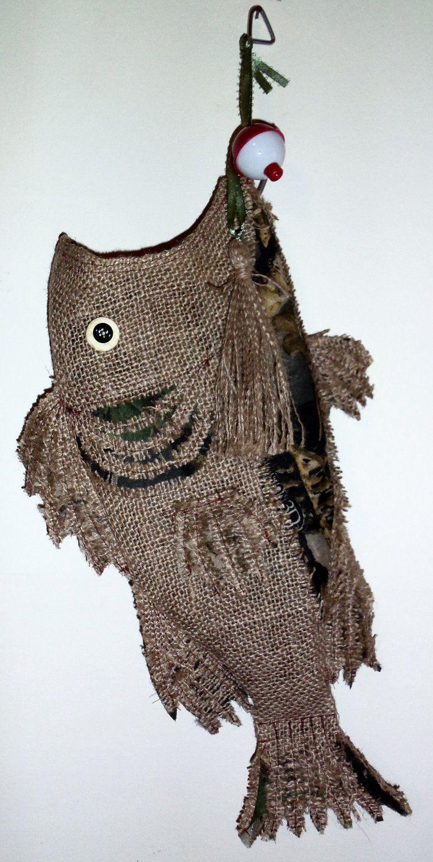 Burlap Christmas Stocking Fish Camo. via Etsy! Now that's a ...