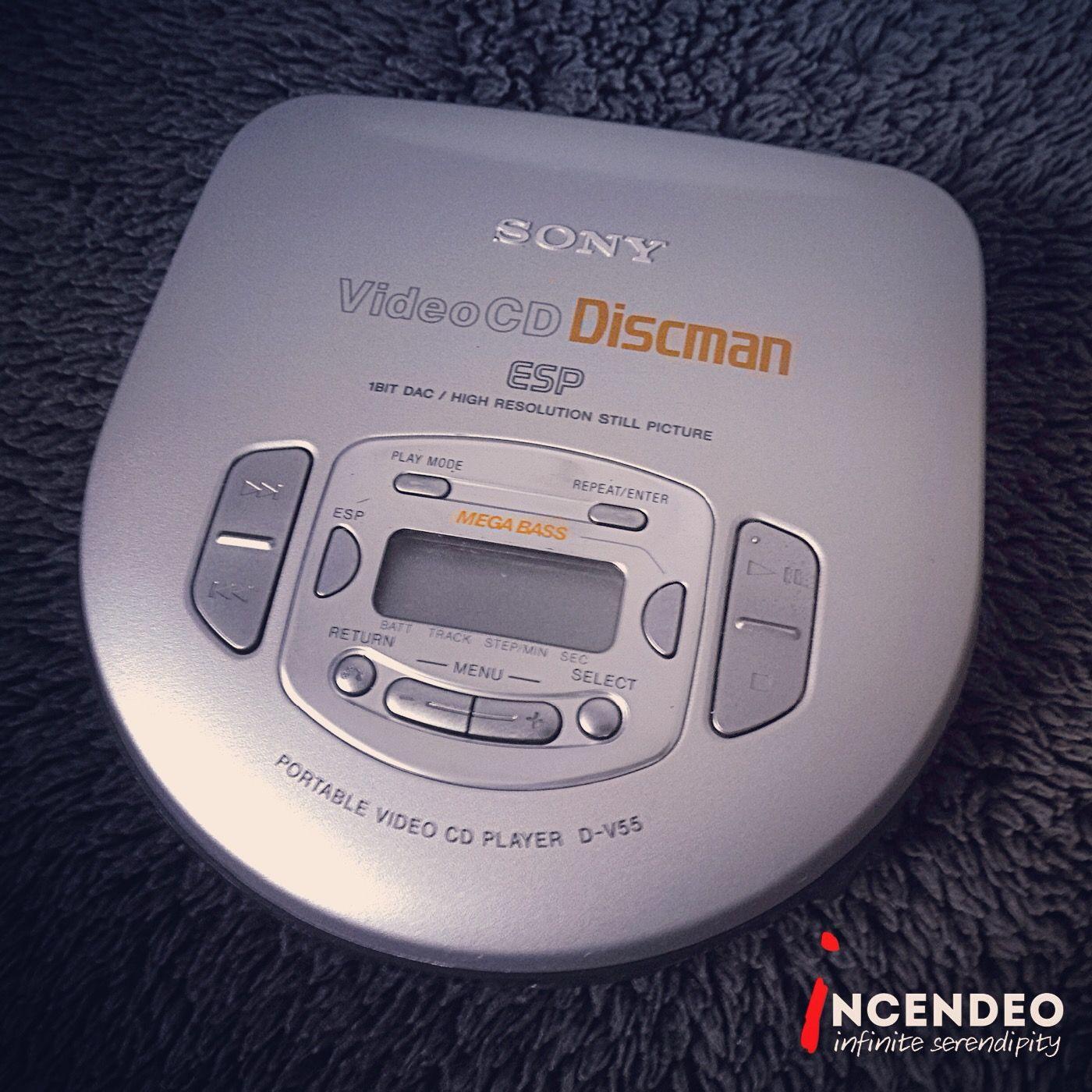 e129cbf26fba Sony VideoCD Discman CD Player D-V55.  sony  discman  walkman  cd ...