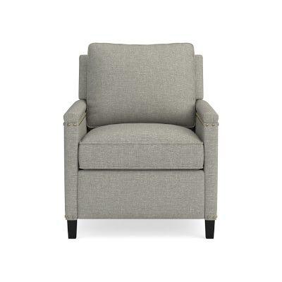 addison recliner nailhead standard cushion linen cotton weave rh pinterest com