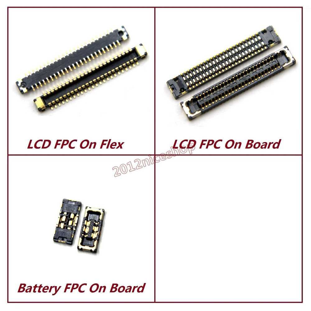Details about Lot OEM Logic Board Touch LCD Battery Plug FPC Connector For iPhone 8 Plus #logicboard