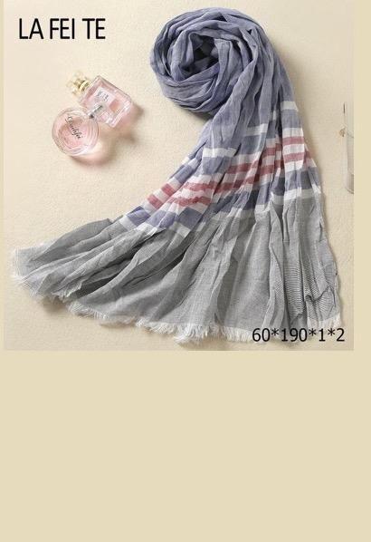 Luxury Designer Long Cotton Scarf Men Foulard Femme Neckerchief Neck Stole  Viscose Crinkle Hijab Scarf Male Women Kerchief db0b454970d