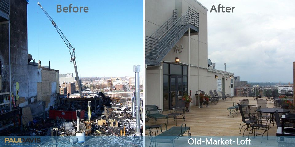 Fire Damage in Old Market Loft Before & After Fire