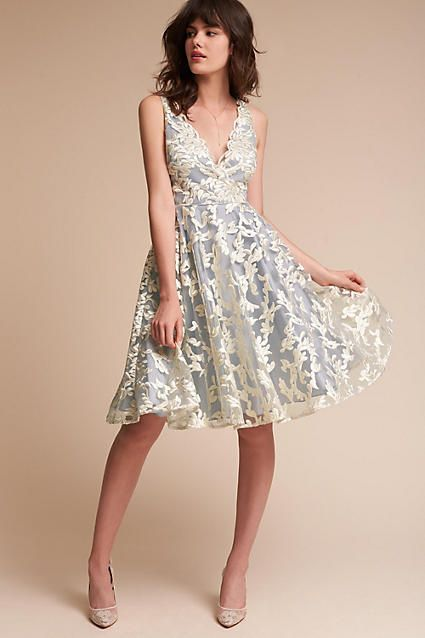 Anthropologie Abbey Wedding Guest Dress Little White Dresses Lace White Dress Girls Formal Dresses