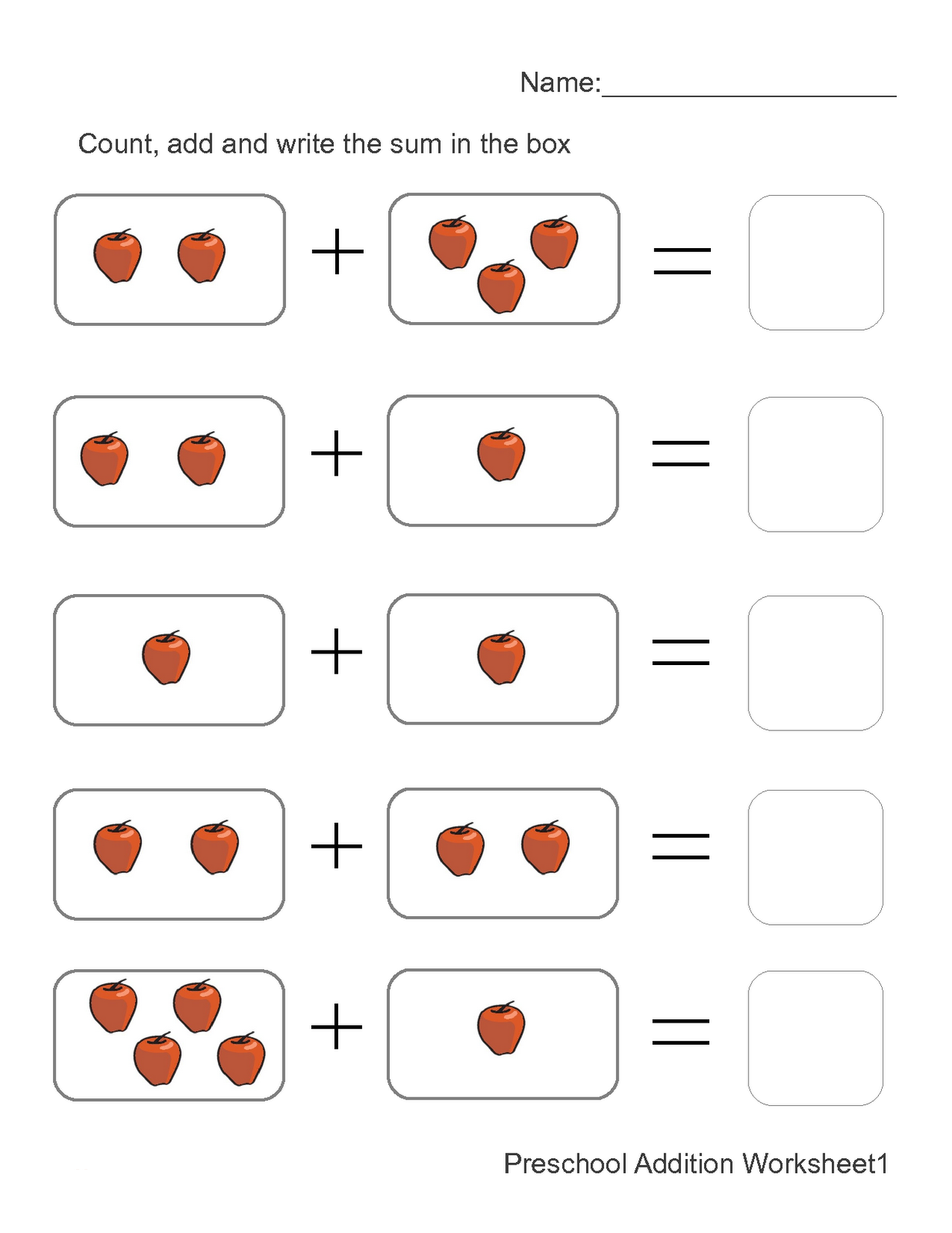 addition worksheets with pictures 1 | Kids math worksheets ...