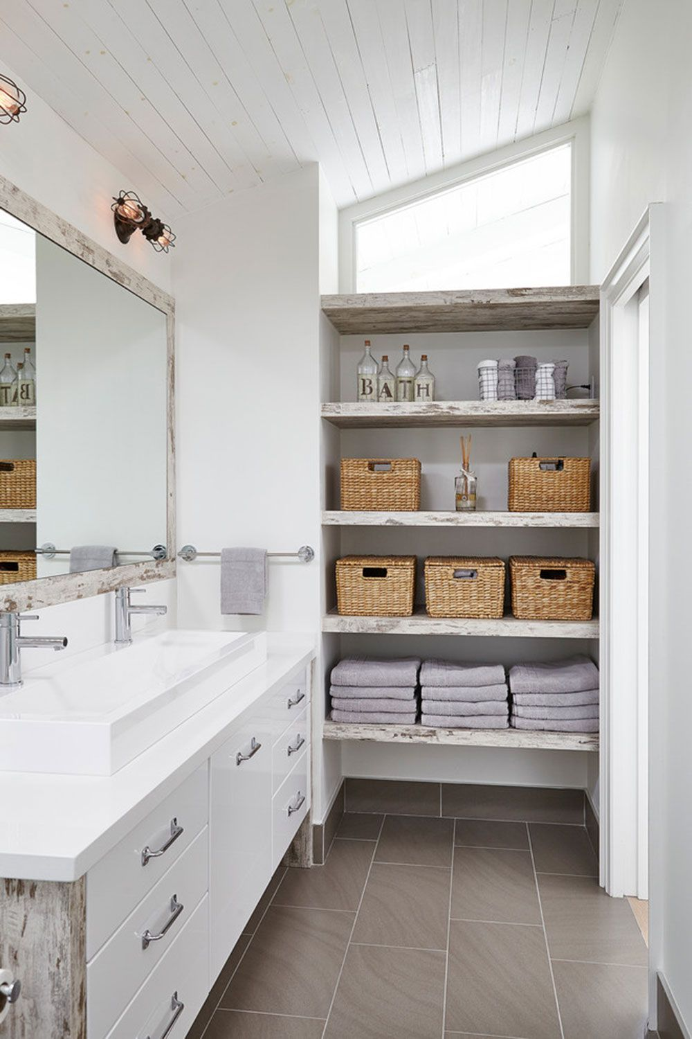 Small bathroom shelf ideas to optimize your bathroom space ...