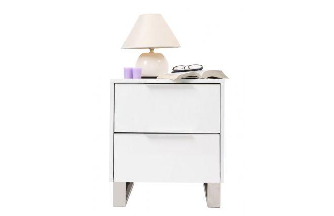 table de nuit design laqu e blanche halifax zoom tables de chevet table de chevet table. Black Bedroom Furniture Sets. Home Design Ideas