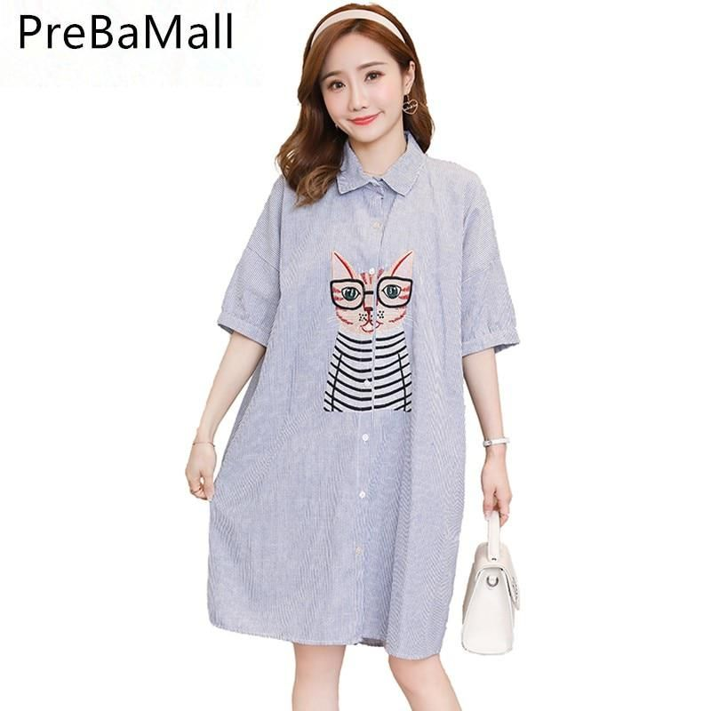 c6c5e72e240 Embroidery Owl Maternity Blouses Dresses Loose Tops Clothes For Pregnant  Women Plus Size Pregnancy Dress Clothing