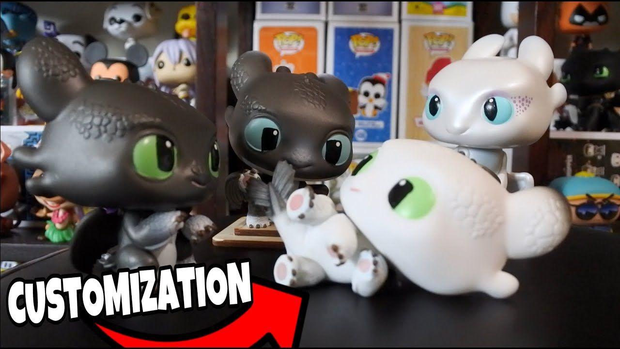 Funko pop customization lightfury nightlights httyd3