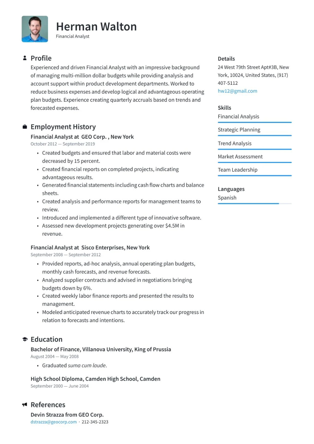 Free Resume Templates download for freshers latest