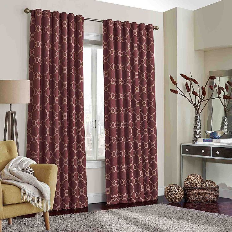 Eclipse Cornell Thermalayer Blackout Curtain Red