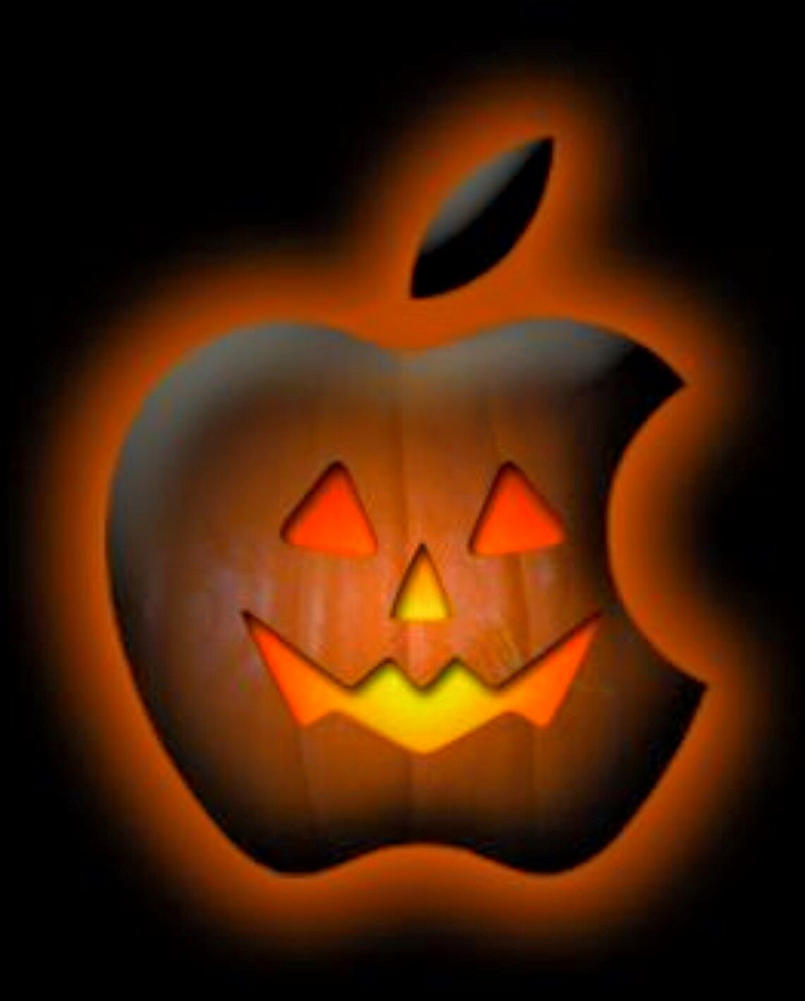 Jack-o-lantern Apple logo picture | Have a Spooky Halloween! | Pinterest