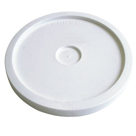 Argee 1 Gallon White Lid 10 Pack Pail Plastic Pail