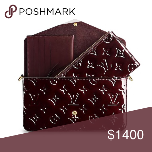 7ef7f8f50d2e Coming Soon— Louis Vuitton Felicie Vernis Monogram The Pochette Félicie  looks elegant in glossy Monogram Vernis patent leather