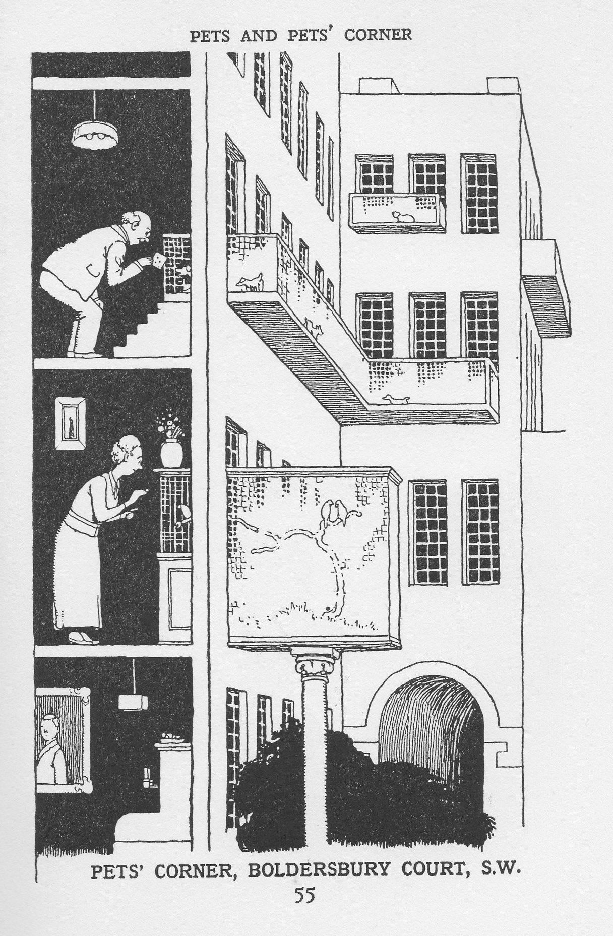 """How to Live in a Flat"""" by W. Heath Robinson and K.R.G. Browne,1936 ..."""