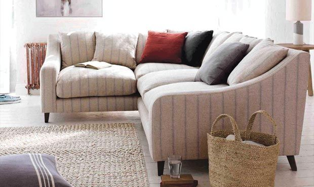 Oscar Corner Sofa In Herringbone Shaker Blue From Loaf 253 X 204 Corner Sofa Design Sofa Styling Sofa Design