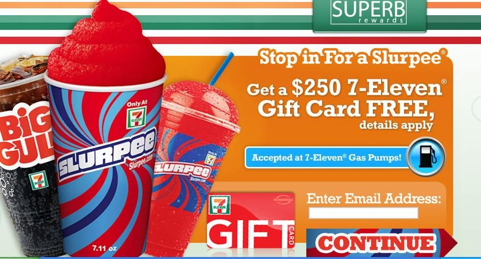 Win free online gift cards 7 Eleven Gift Card 250 Win Free