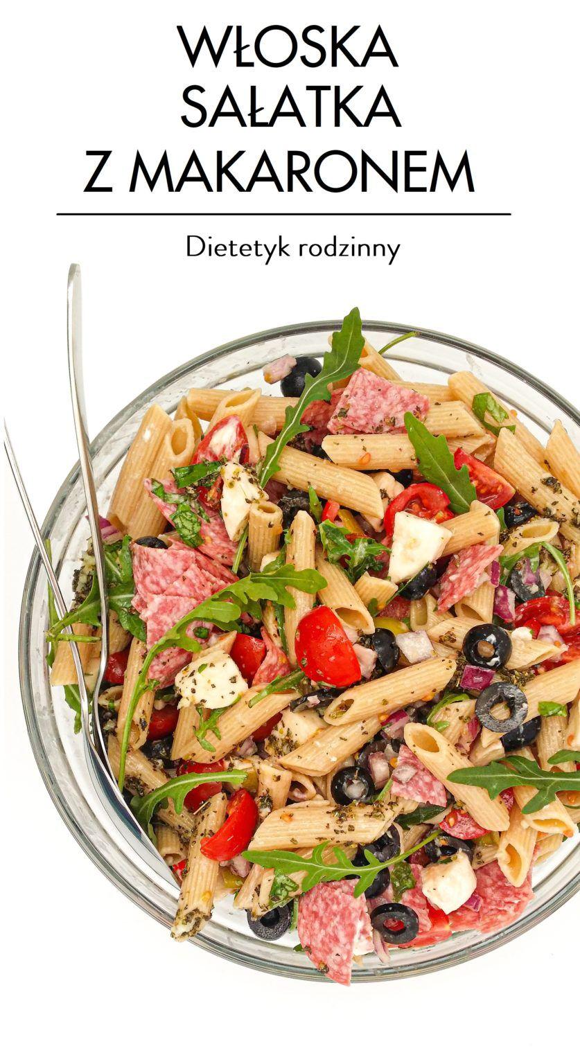 Wloska Salatka Z Makaronem Recipe Food Workout Food Healthy Recipes