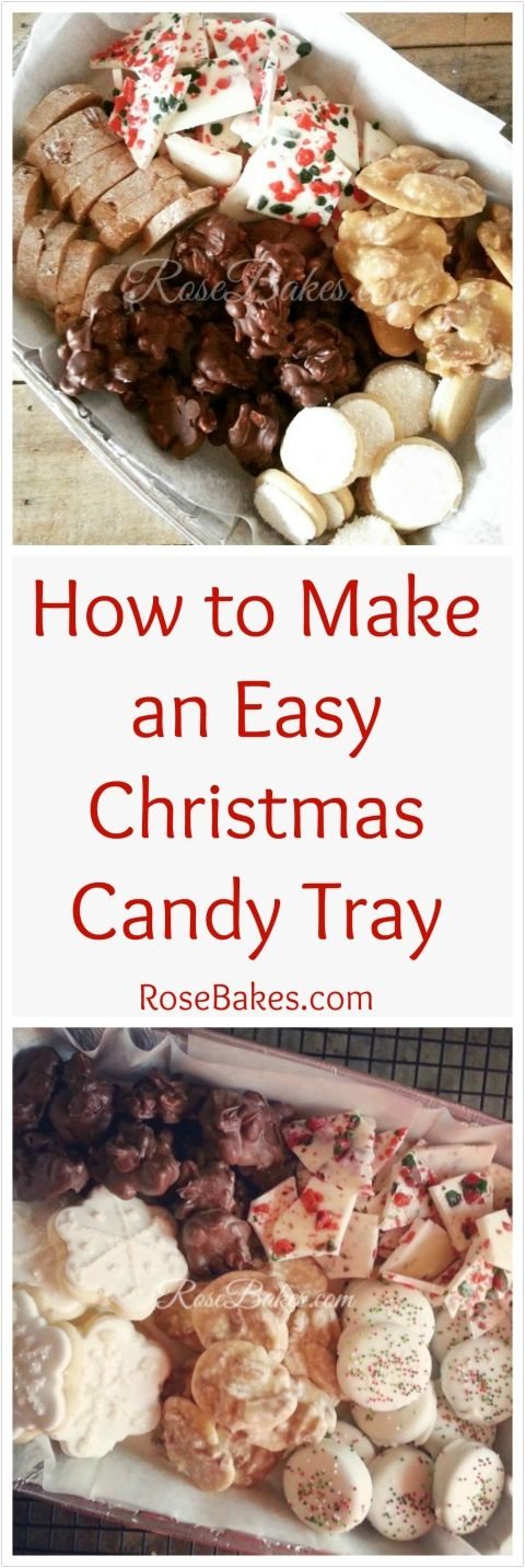 How to Make an Easy Christmas Candy Tray