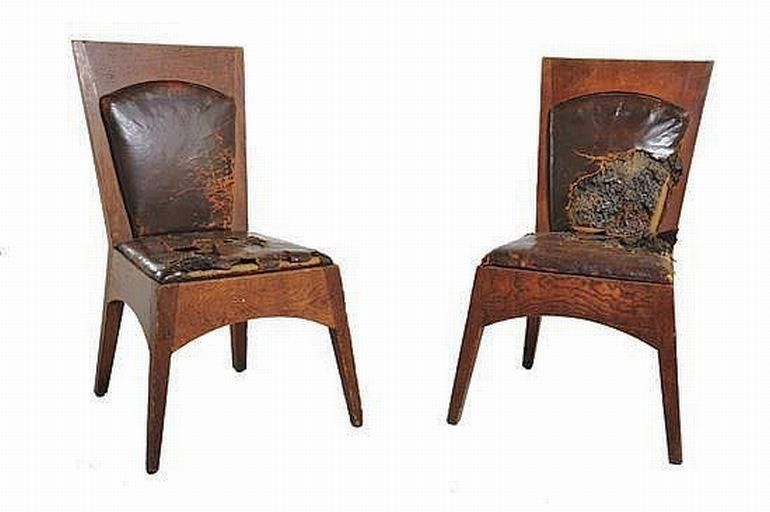 walter burley griffin (1876-1937), a pair of newman college chairs
