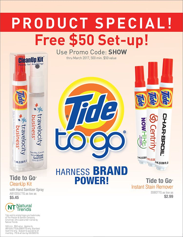 Don T Miss The Show Special On Tide Stain Hand Sanitizer
