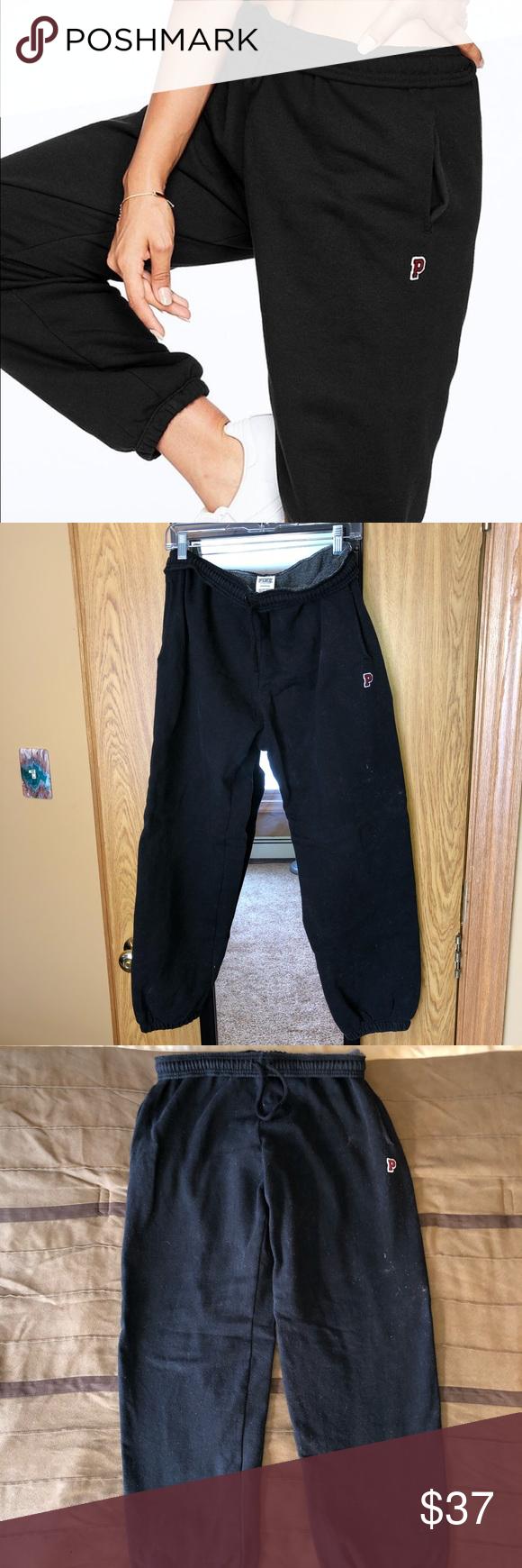 70c2b314a3b PREMIUM COLLEGE CAMPUS PANT VS Pink black super soft and cozy sweatpants.  They