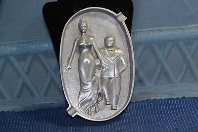 Vintage Comical Brass Risque Brass Man Woman Tray Newman Bros | eBay