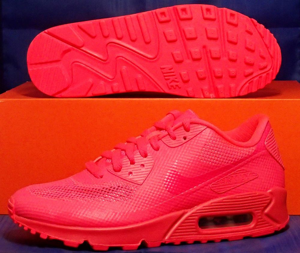 pretty nice daf3b 824ee Womens Nike Air Max 90 Hyperfuse Premium iD Solar Red SZ 8 ( 488033-991 )   Nike  RunningCrossTraining