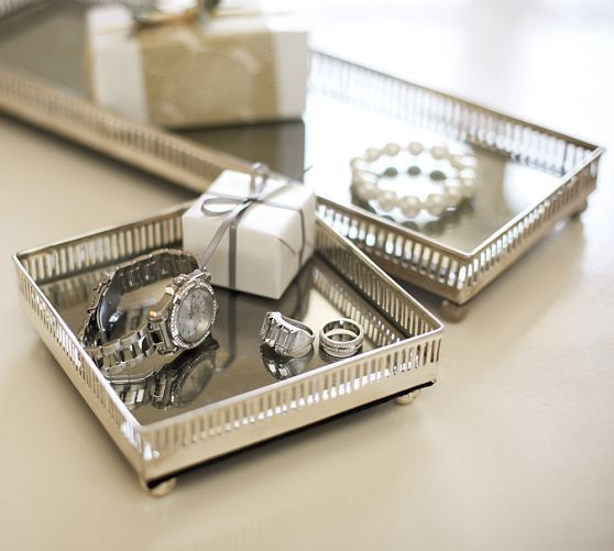 Mirrored Dresser Top Trays Pottery Barn Small One Is Perfect For Perfume Collection 39