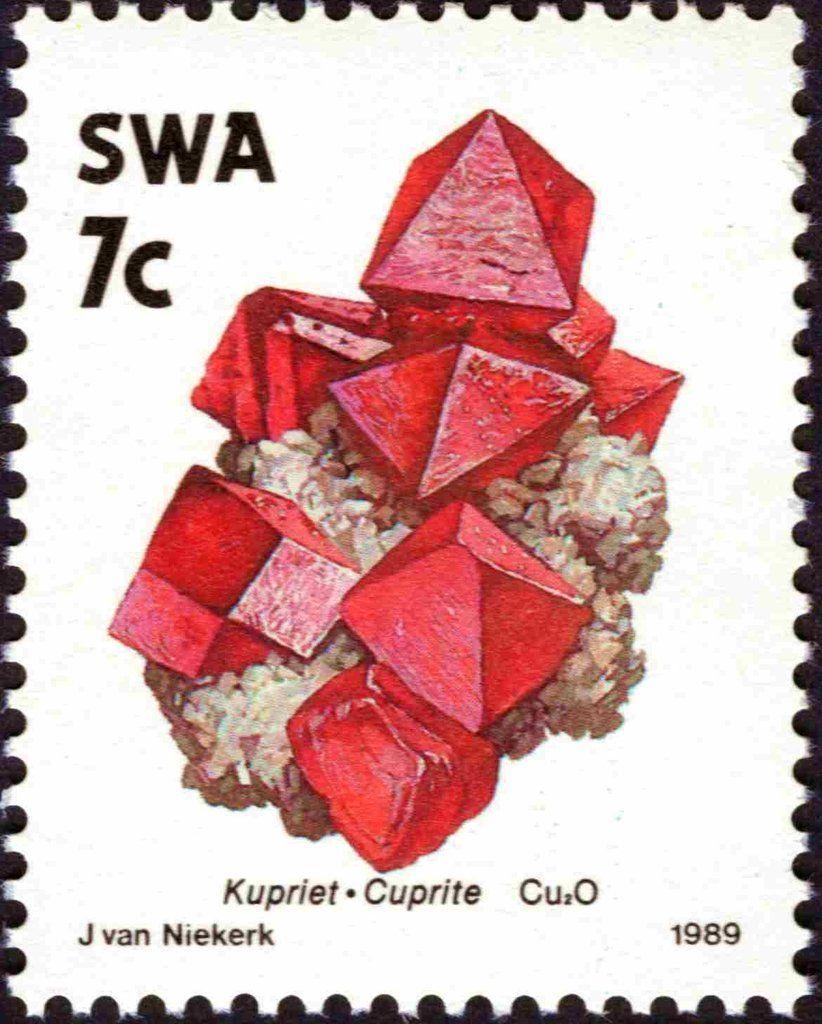 Stamp Cuprite South West Africa Minerals Mi Na Sw 652 Sn Na Sw 629 Yt Na Sw 609 Briefmarken Mineralien
