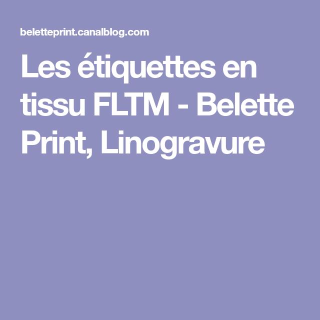 Les étiquettes en tissu FLTM - Belette Print, Linogravure